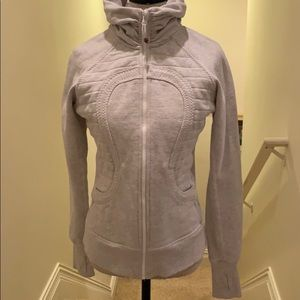 Lululemon scuba hoodie light gray